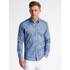 Camasa premium, casual, barbati - K500-bleumarin-albastru