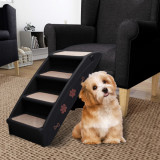 Scară pentru câini pliabilă, negru, 62 x 40 x 49,5 cm, vidaXL