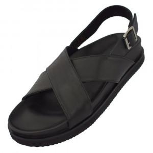 Sandale barbati, din piele naturala, marca KicKers, 694360-60-01-134, negru 43