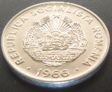 Moneda 15 BANI - RS ROMANIA, anul 1966   *cod 2311 C - A.UNC