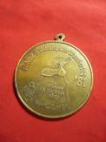 2 Medalii - Orientare Turistica -sponsor Ziarul Zeitung Essen 1981 ,d=4cm ,bronz