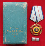 Set complet Ordin militar Republica Populara Romana medalie cutie si bareta 1950