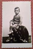 Portret de copil - Fotografie tip carte postala datata 1938