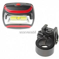 Lanterna bicicleta cu COB LED 3W cu Baterii CH2029