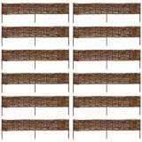 VidaXL Gard din salcie 120 x 35 cm 12 buc