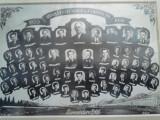 CFR : Fotografie mare, tip tablou, Absolventii scolii  gr II vagoane Iasi 1956