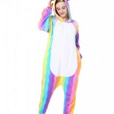 PJM58-59 Pijama intreaga kigurumi, model unicorn multicolor