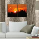 Cumpara ieftin Tablou decorativ canvas cu ceas Clockity, 248CTY1654, Multicolor