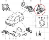 Yala hayon Renault Twingo 1 2004-, Original Renault 7701208502, inchizator portbagaj spate Kft Auto