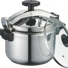 Oală pentru gătit sub presiune din inox, DeKassa, 7 litri, fund 3 straturi