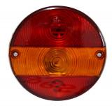 Lampa auto BestAutoVest pentru remorca rotunda stanga/dreapta cu lampa numar 12/24V , 140mm , 1 buc. Kft Auto