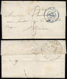 France 1840 Postal History Rare Stampless cover Paris to Verdun-sur-Meuse D.771
