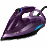 Fier de calcat Philips Azur Advanced GC4934/30, 3000 W, Talpa SteamGlide Plus, Tehnologie OptimalTEMP, 55 g/min, Detartrare Rapida, Mov