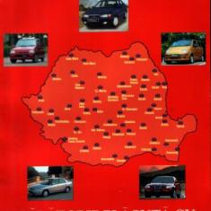 România, harta rutieră (2000)