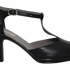 Pantofi dama retro din piele Ninna Art 125 negru