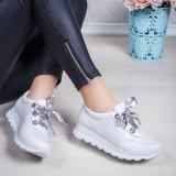 Pantofi Piele dama albi Dotis