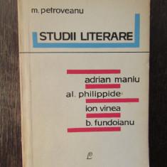 STUDII LITERARE -M.PETROVEANU