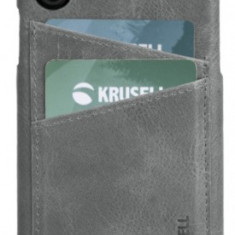 Protectie Spate Krusell Sunne Cover 2 Card KRS61502 pentru Apple iPhone XS Max (Gri)