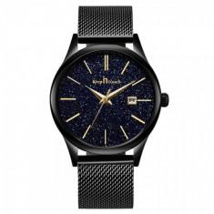 Ceas pentru barbati, Keep in Touch CS1155, bratara metalica, model negru