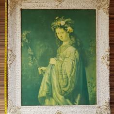 Tablou reproducere pânză Rembrandt - Saskia as Flora, Portrete
