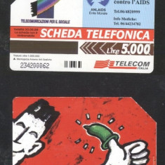 Italy - Telephone card Magnetic card AIDS CT.010