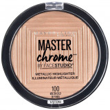 Paleta Iluminatoare Maybelline New York Master Chrome Metallic 100 Molten Gold 9 g