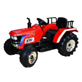 Tractor electric pentru copii, cu acumulator, 2 motoare, 12V, telecomanda parentala, rosu