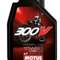 Motul ulei motor scuter moto 300V 4T Factory Line 15W60 Off Road 1L