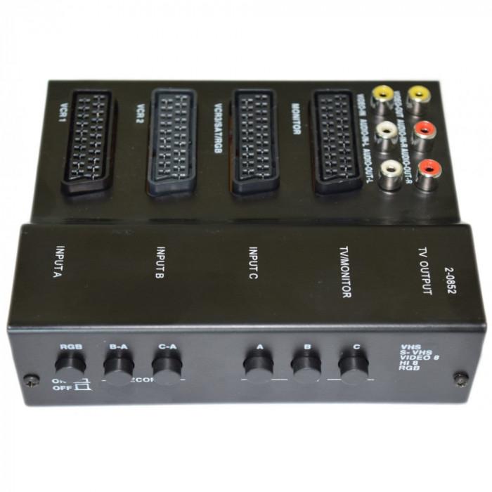 Video controller adaptor conectare A / V 4 x SCART, 6 x RCA EDC