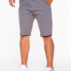 Pantaloni scurti pentru barbati, gri, casual, model de vara, slim fit, buzunare laterale - P520