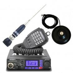 Pachet statie radio CB Avanti Primo (versiunea PRO) cu antena Sirio Turbo 2000 si baza magnetica