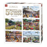 Puzzle 5x1000 piese Classic Collection