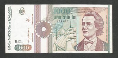 ROMANIA  1000  1.000  LEI  1991  [07]  a  UNC  , necirculata , cu punct foto