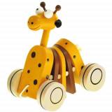 Jucarie de Tras din Lemn Girafa