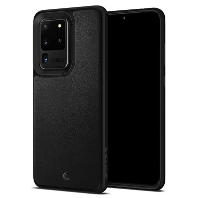 Carcasa Spigen Ciel Leather Samsung Galaxy S20 Ultra Black foto