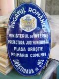 TABLA VECHE EMAILATA_REGATUL ROMANIEI , PRIMARIA COMUNEI ORASTIOARA DE JOS