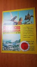 "romania pitoreasca decembrie 1974- art. ""unde isi petrec vacanta vedetele tarii"" foto"