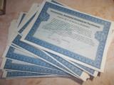 LOT 16 ACTIUNI : SOCIETATEA ROMANA DE TELEFOANE , TITLU ACTIUNI 5000 LEI ~ 1938