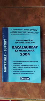 GHID DE PREGATIRE PENTRU EXAMENUL DE BACALAUREAT LA MATEMATICA SERDEAN foto