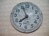 A961-Cadran Roskoph Patent vechi ceas buzunar barbat, metal cu tren.