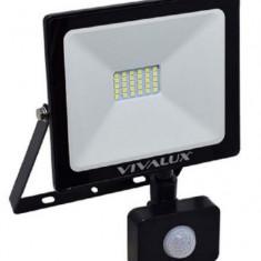 Proiector Led pentru exterior Vivalux VIV003974, 20W, lumina rece (6500K), 1600 lumeni, durata de viata 25000 ore, senzor de miscare, 230 V, clasa ene