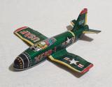 Avion din tabla litografiata - USAF - XF8B - I - Made in Japan piesa de colectie