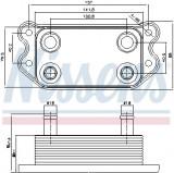 Termoflot radiator ulei VOLVO C70 II, S40 II, V50 2.4 2.5 intre 2004-2012, Nissens