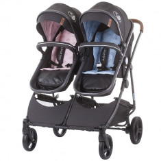 Carucior gemeni Chipolino Duo Smart 2 in 1 Blue Pink