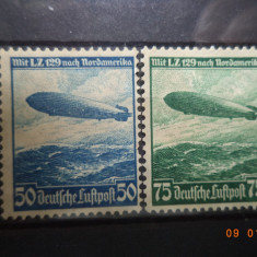 1936  Germania ( Reich ) Mi 606 - 607  Serie completa ( FARA GUMA )., Nestampilat