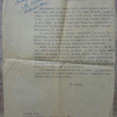 Copie cerere scutire repatriere a unui roman din Bolgrad// 1945