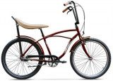 Bicicleta Pegas Strada 1 ALU 3S 2017, Cadru 17inch, Roti 26inch, 3 Viteze (Maro)