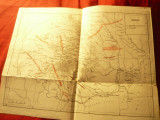 Harta istorica - Formatiuni Politice Romanesti sec.XI-XIII , dim. 31,5x24,5cm