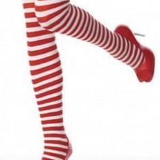 P155 Ciorapi trei sferturi cu model in dungi