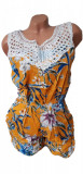 Salopeta scurta in bretele cu model floral pentru dama cod 600